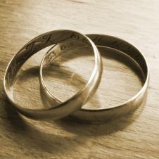 sepia wedding rings